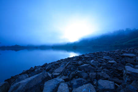 Foggy dams early morning  photo