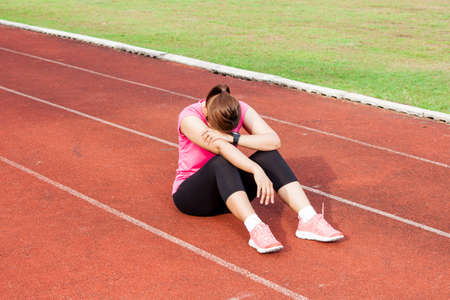 athletic: Frustrated female runner