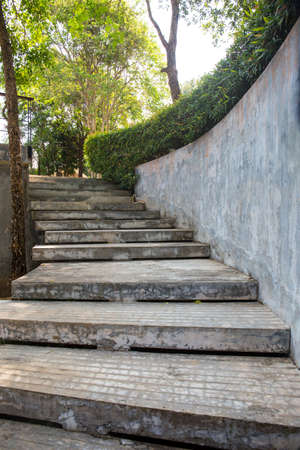 concrete: cement concrete staircase, outdoor