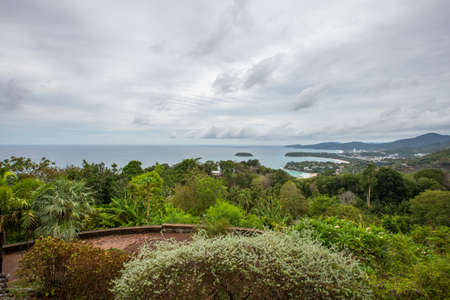 kata: View point of Kata Noi, Karon Beach and Karon Beach. Thailand, Phuket