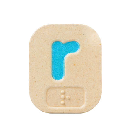 braille: r alfabeto sobre fondo blanco con Braille.