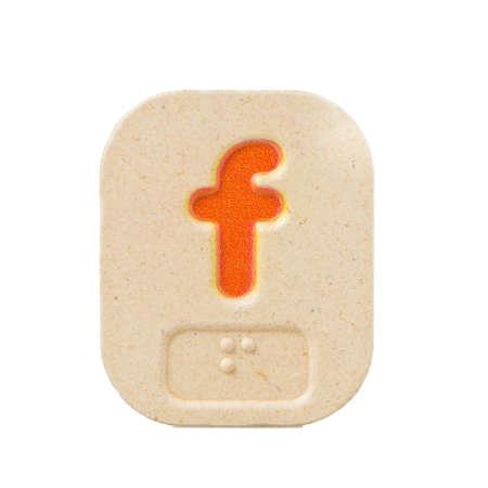 braile: f alfabeto sobre fondo blanco con Braille.
