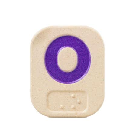 braile: O alfabeto sobre fondo blanco con Braille.
