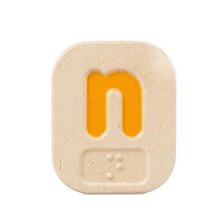 braile: n alfabeto sobre fondo blanco con Braille.