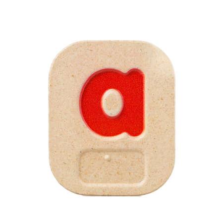 braille: alfabeto a en el fondo blanco con Braille.