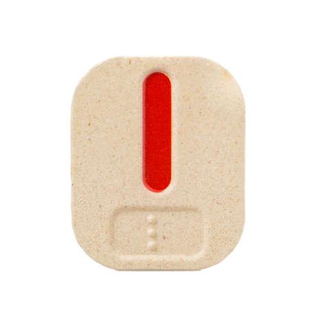 braile: l alfabeto sobre fondo blanco con Braille.