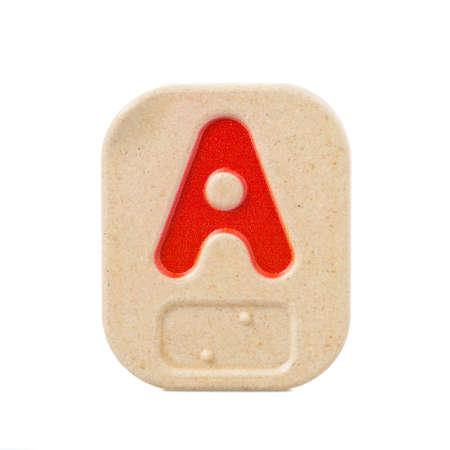 braile: Un alfabeto sobre fondo blanco con Braille.