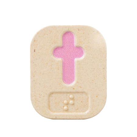 braille: t alfabeto sobre fondo blanco con Braille.