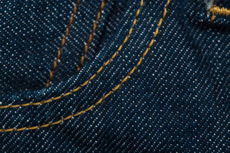 seam: Blue denim jeans texture with seam Stock Photo