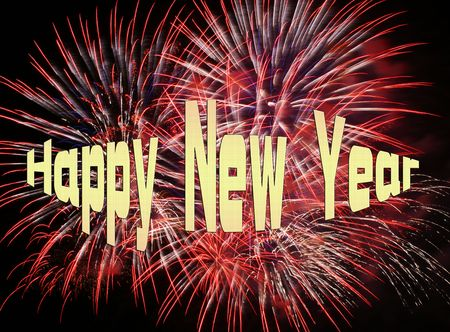 Happy New Year - Fireworks Stock Photo - 8148634