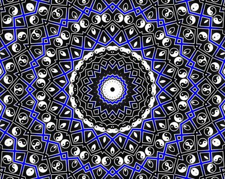 esoterismo: Azul c�rculo de Mandala - concepto de inspiraci�n  Foto de archivo