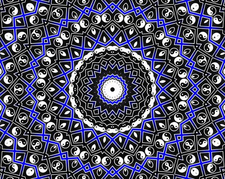 Blue Circle Mandala - Inspiration Concept photo