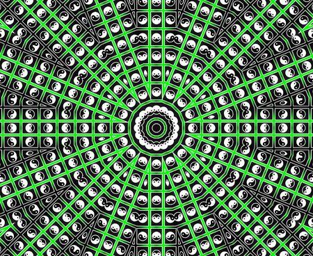 Green Star Mandala Stock Photo - 8169511