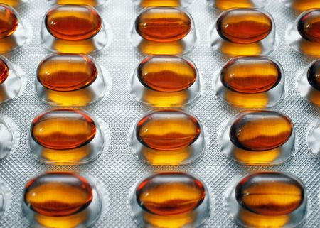 Capsules close-up - Medicine photo