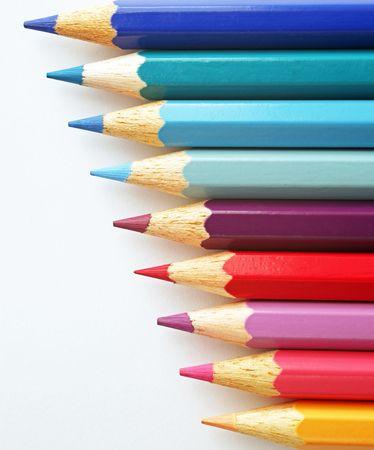 multi colors: Crayons Close-up - Multi Colors