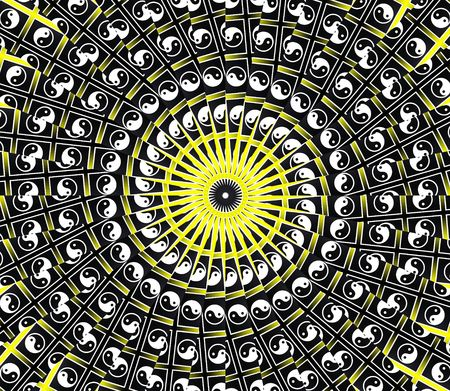 Yellow Sun Mandala - Inspiration Concept photo