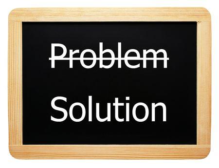 問題ソリューション - コンセプト記号 写真素材