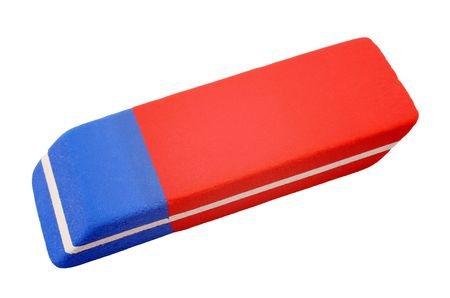 Eraser close-up - isolated on white background Stock Photo - 8192488
