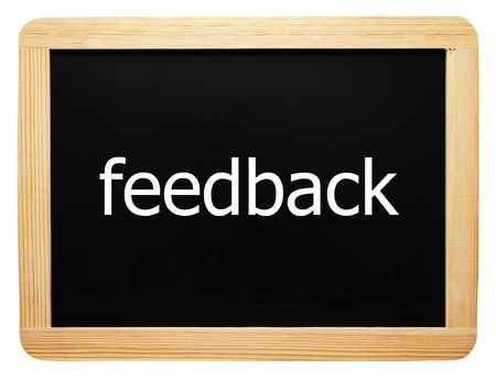 Feedback - Concept Sign - isolated on white background Stock Photo - 8192491