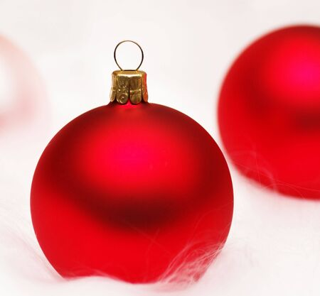 glassblower: Christmas Bauble red pink - Merry Christmas Stock Photo