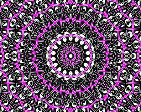 Pink Circle Mandala - Inspiration Concept Stock Photo - 8258891