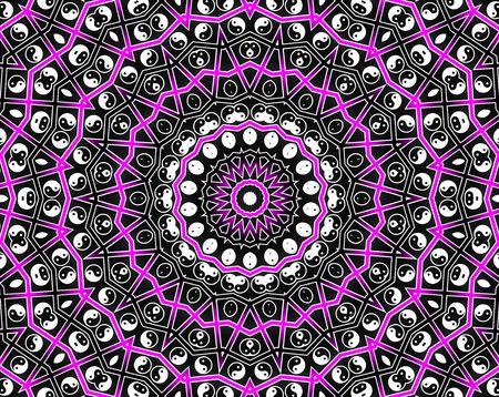 esot�risme: Pink Circle Mandala - Inspiration Concept