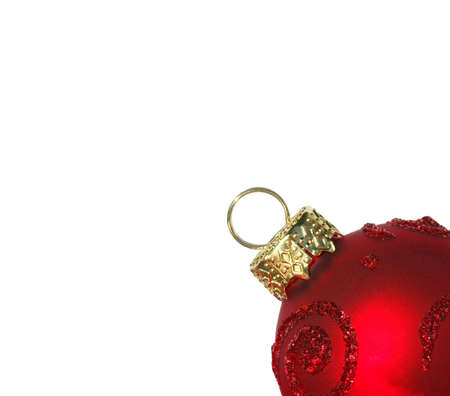 glassblower: Red Christmas Bauble isolated