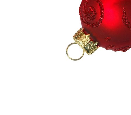 glassblower: Red Christmas Bauble - isolated