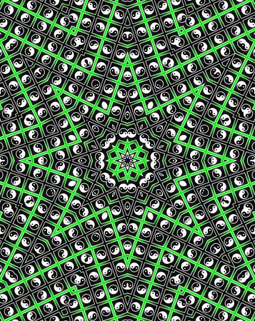 Green Star Mandala - Oktogon Style Stock Photo - 8258893