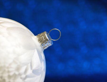 Christmas Bauble - Nacre Style white blue photo
