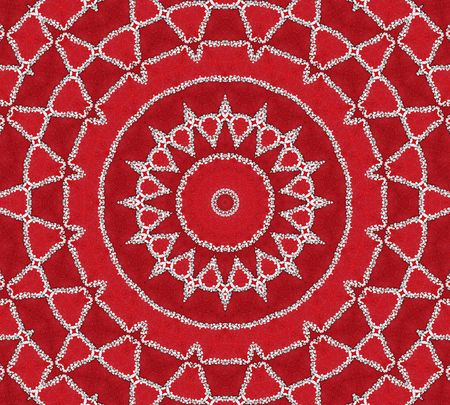 Red Inspiration Mandala photo