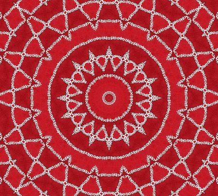 sanskrit: Red Inspiration Mandala Stock Photo