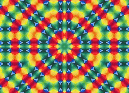 Rainbow Style Mandala Stock Photo - 8258909