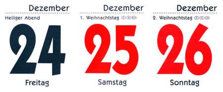 Christmas Time - Calendar Days December Stock Photo - 8258897