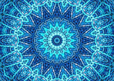 chakra: Mandala bleu cosmique Banque d'images