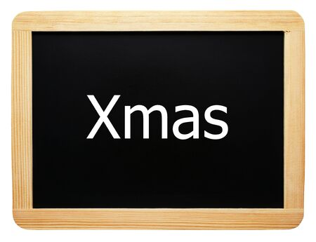 Xmas - Christmas Concept Sign - isolated photo