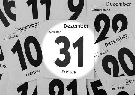 New Years Eve - Spotlight on Calendar photo