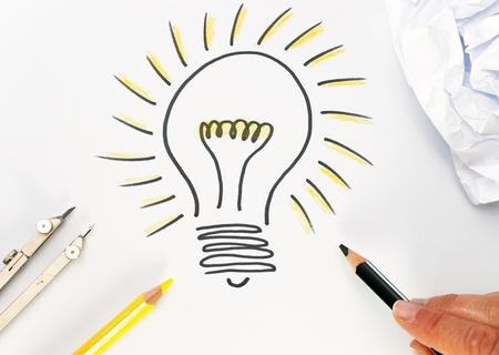 Brillante idée Concept Banque d'images - 8360188