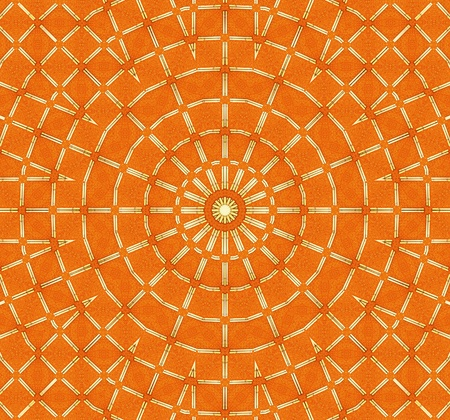 Orange Sun Mandala Stock Photo - 8360190
