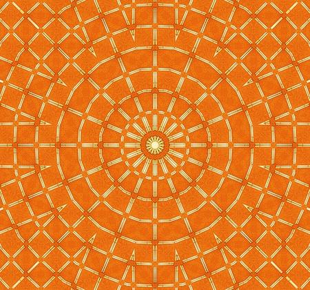oneness: Sun Mandala arancione Archivio Fotografico
