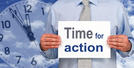Time for action Stock Photo - 17857894