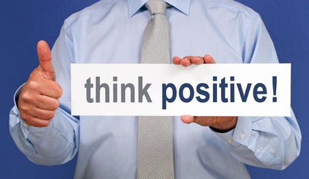 actitud positiva: pensar en positivo
