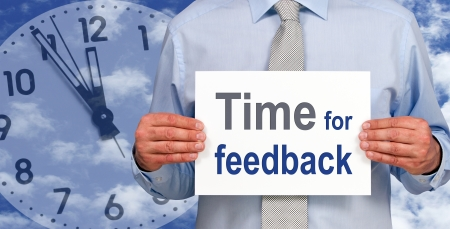 an opinion: Time for feedback Stock Photo