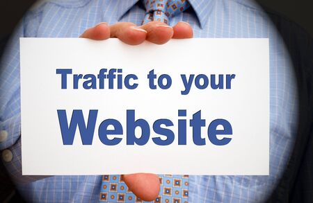 Traffic to your website Stock Photo - 17860204