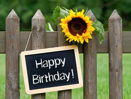 birthday invitation: Happy Birthday