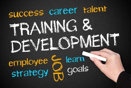 ontwikkeling: Training en Ontwikkeling - Business Concept Stockfoto