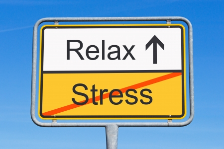 workplace wellness: Stress and Relax Stock Photo
