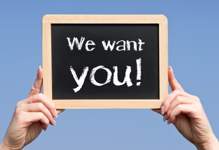 recruiting: We want you Stock Photo