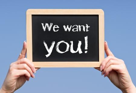 hiring: We want you Stock Photo