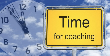 timing: Time for coaching Stock Photo